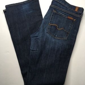 7 For All Mankind Bootcut Dark Wash sz 32